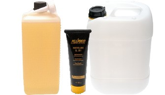 Oils, greases, pastes & containers