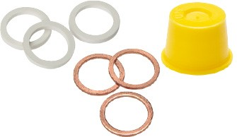Gaskets, safety caps & protective stoppers