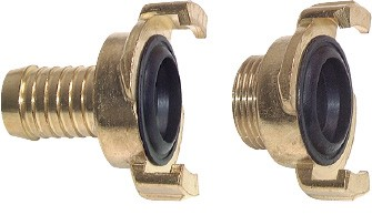 Garden hose quick couplings, 40 mm clamp width