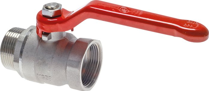 Screw-in ball valves, 2-piece, full bore, PN 25 (Eco-Line)