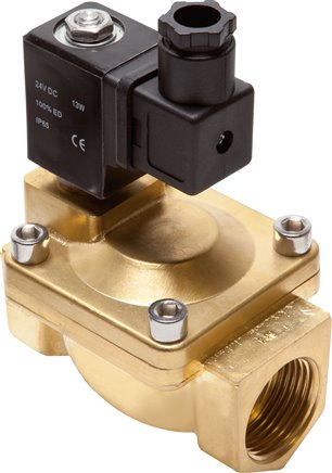 2/2-way solenoid valves made of brass, Eco-Line