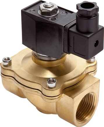 2/2 way solenoid valves made of brass, force pilot operated, Eco-Line